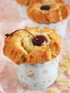 cherry cupcake financiers