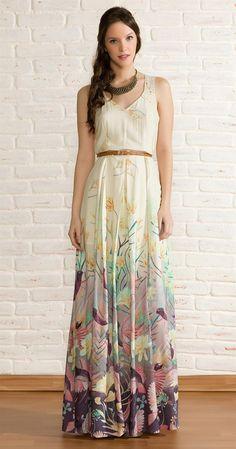 Vestido Longo Beija Flor   Lookbook   Antix Store: