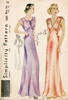 Awesome Photo of Lingerie Sewing Patterns Lingerie Sewing Patterns Vintage Lingerie Sewing Pattern Gown Negligee Bust 34 Belle Lingerie, Lingerie Couture, Lingerie Vintage, Sewing Lingerie, Lingerie Patterns, Vintage Dress Patterns, Vintage Outfits, Vintage Fashion, 1930s Fashion