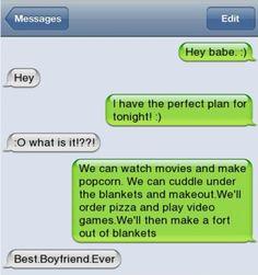 Great boyfriend status!
