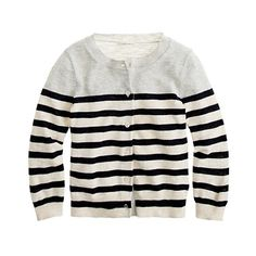 Crewcuts. Girls' colorblock cardigan in stripe