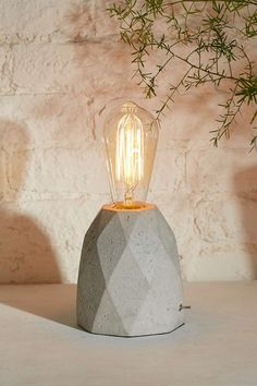 Prism Concrete Lamp - Urban Outfitters