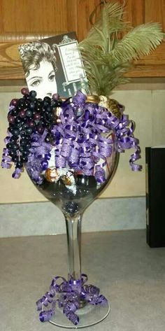 Wine glass gift.
