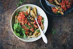 "Penne Pomodoro with Vegan ""Tuna"""