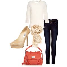 Love the casual look.  Buying a pair of nude heels has been on my to-do list forever!  Time to go purchase some!