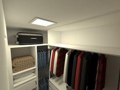 Closet Suíte Master - Apartamento Residencial de um  Jovem Advogado - Condomínio Ed. Arc de France