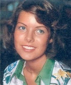 Princess Caroline of Monaco wearing a Gucci Flora print shirt,for Vogue magazine.1973.