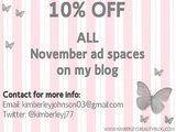 Kimberley's Beauty Blog / advertising discount