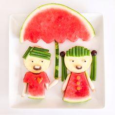 Watermelon umbrella.