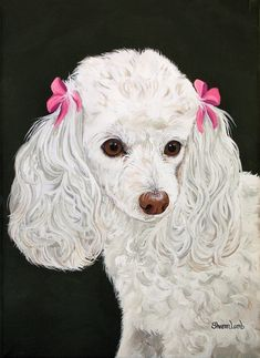 Items similar to Pet Painting Custom Pet Portrait Animal Art Poodle Dog Cat Horse Pet Loss Pet Memorial Pet Art Pet Lovers Artist Sharon Lamb on Etsy Animal Paintings, Animal Drawings, Perros French Poodle, Poodle Drawing, Beagle Puppy, Labrador Puppies, Retriever Puppies, Corgi Puppies, Pet Loss