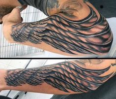 Elbow Tattoo Angel Wings For Men