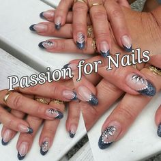 acryl nails grey nailart