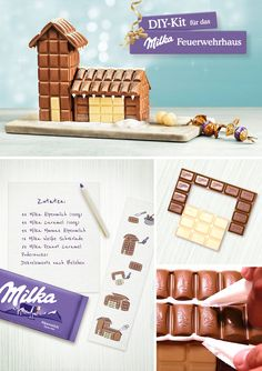 DIY: Milka chocolate house Christmas gift ideas – unusual Christmas ideas Out of all of the things that we've previously di Inexpensive Christmas Gifts, Perfect Christmas Gifts, Winter Christmas, Holiday Gifts, Christmas Ideas, Chocolate House, Chocolate Diy, Christmas Present For You, Diy And Crafts