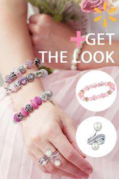 e90dc1c04e5b 1928 Jewelry - Womens Glass Gold-Tone Pink Beaded Stretch Vintage Fashion  Bracelet - Walmart.com