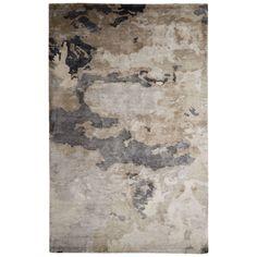 Jaipur Contemporary Pattern Taupe/Gray Art Silk Area Rug