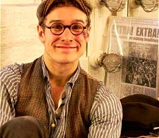"my newest crush, ryan steele (specs/dance captain), from ""newsies"" on broadway!"