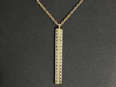 Sterling silver plated yellow gold cubic zirconia pendant and chain