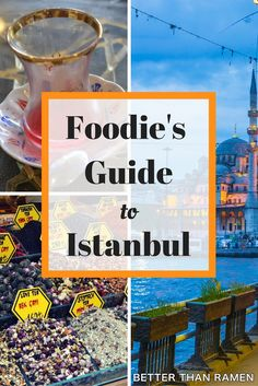 Learn all about Istanbul's bazaar's, teas, baklava and ice cream in this Foodie's Guide to Istanbul. Europe Travel Tips, Travel Goals, Travel Guides, Travel Destinations, Work Travel, Travel Hacks, Istanbul Guide, Grand Bazaar Istanbul, Istanbul Travel