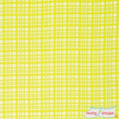 Clementine Lemon Yellow Dot Weave Quilt Fabric by Heather Bailey for Freespirit