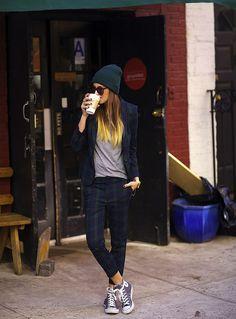 black jeans allstars beanie style fashion streetstyle women look sunglasses womenswear