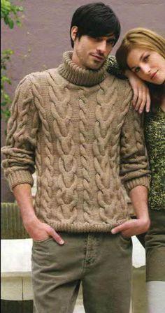 Men's Hand Knit Wool Turtleneck Sweater – KnitWearMasters Hand Knitted Sweaters, Wool Sweaters, Handgestrickte Pullover, Sweater Cardigan, Men Sweater, Mens Turtleneck, Male Hands, Polo Neck, Hand Knitting