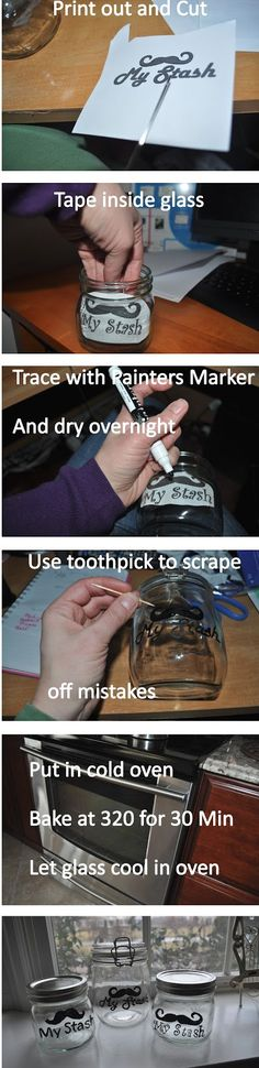 DIY ~ Take any printable you want and make a jar bell ~ from : Mom Attempts...: My Stash Gifts