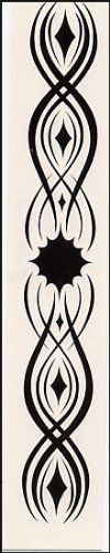 "Armband Black Sun Temporaray Tattoo by Tattoo Fun. $4.95. This temporary tattoo armband has a black sun design in the middle and diamond shapes that increase in size out from the sun on either side. It measures approx 5 1/2"" x 3/4"" wide."