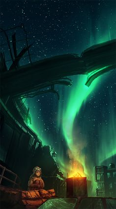 Aurora lights!!! - pixiv Spotlight