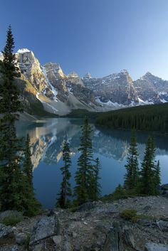 """Moraine Lake (""""Valley of the Ten Peaks"""") Banff National Park in Alberta, Canada. Photo © Cole Chase Photography."""