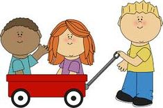 Kids with Wagon Clip Art - Kids with Wagon Image Speech Language Pathology, Speech And Language, Music Therapy, Speech Therapy, Daily Schedule Preschool, Funny Toons, Nursery Teacher, School Clipart, Cute Clipart