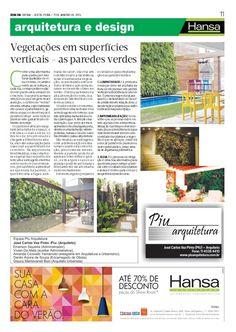 72° Jornal Bom Dia  - Vegetação em superficies verticais - As paredes verdes  11-01-13