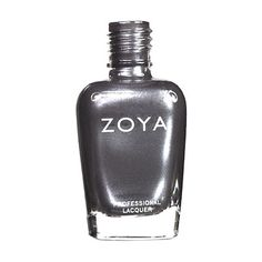 Zoya Freja Nail Polish | Freja by Zoya can be best described as: A smoky, shimmering gunmetal gray with hints of blue and sprinkled with silver.A smoldering, sexy shade that's the polish equivalent of the smoky eye. | Metallic | Intensity: 4