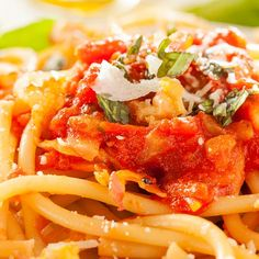 Simple Pasta Topped With Bacon And Cheese Recipe