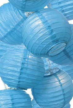 Great to hang up for a party. Blue paper lanterns are different. Sincerely, JoAnne Craft