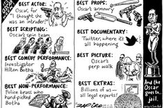 Zapiro: And the Oscar goes to ...Jail...  Laugh of the Day: 2 November 2013.