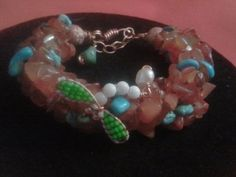 Cornellian Turquoise and Dragonfly Bracelet by CRoanCollections, $35.00