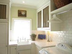 sink, cabinet grilles, cabinets, subway backsplash... like it all