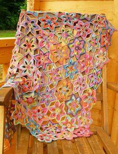 Lily Crochet Blanket/Afghan - via @Craftsy