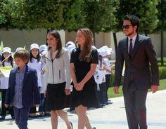 The royal children-prince al hussain, princess eman, princess salma, prince hashem