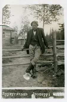 Photo of a real Ryysyranta Jooseppi , which Ilmari Kianto was a role model for writing the eponymous work . Photo taken by a former police officer J. Pihlajamaa Suomussalmi 1927. - SKS's culturally and historically significant image collections include more than 200 000 images since the 1860s . ( photos, negatives , illustrations and bookplates ) .Suomalaisen Literary Society collects and stores the image data continuously. Image Collection, Police Officer, Workwear, Role Models, Finland, Authors, Acting, Nostalgia, Designers
