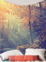 Forest Maple Tree Leaves Wall Tapestry - COLORFUL W59 INCH * L59 INCH Mobile