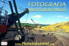 Coal mine digger industrial photo.   Escavadeira em mina de carvão. Sideropolis, Santa Catarina state, Brazil.