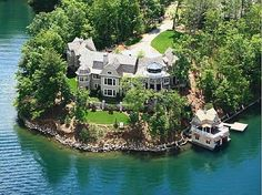 "Nick Saban's ""Lake House"" in North Geogia. It's called ""The Pointe"" on Lake Burton. :) 112 Whipporwill Ln, Clayton, GA 30525"