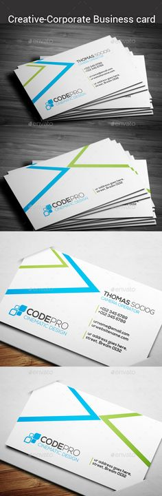 Corporate Business Card Template #design Download: http://graphicriver.net/item/corporate-business-card/12373478?ref=ksioks