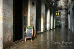 The back alleyways of Barcelona after the storm
