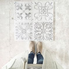 Tiles are Fontile- Porcelain floor tile in Antique Acero color- 24×24.
