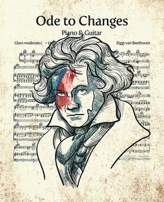 Ziggy van Beethoven  Partitura verdadeira de Changes do D. Bowie.