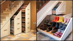 How to make use of the space under the stairs.