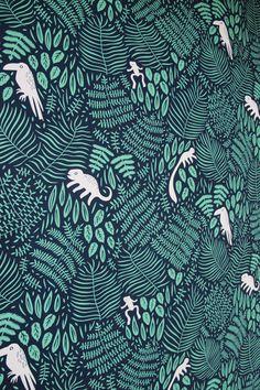 Amazonia wallpaper by Finnish designer Linnéa Puranen.
