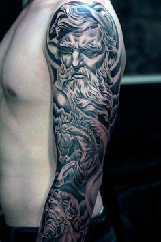 zeus arm tattoo